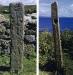 Cross inscribed holed pillar